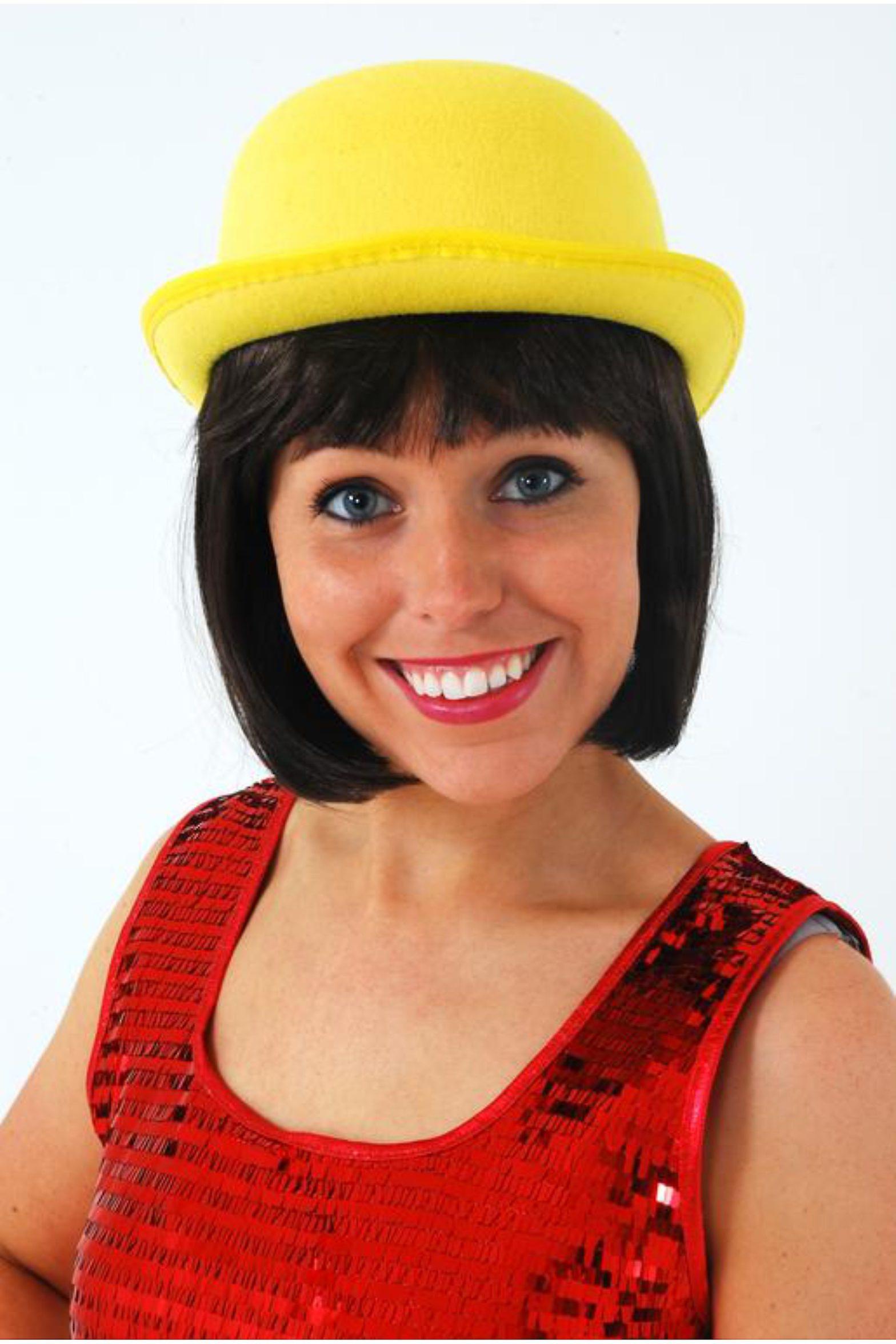 Hats Yellow Bowler Hat  21ade949981