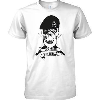 Royal Marines Commando 42 Cdo Skull - Kids T Shirt