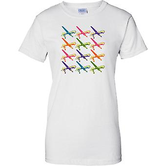Predator Drone Pop Art Design - Ladies T Shirt
