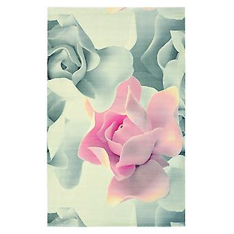 Porcelain Floral Rose Wool Rugs - Ted Baker 57402