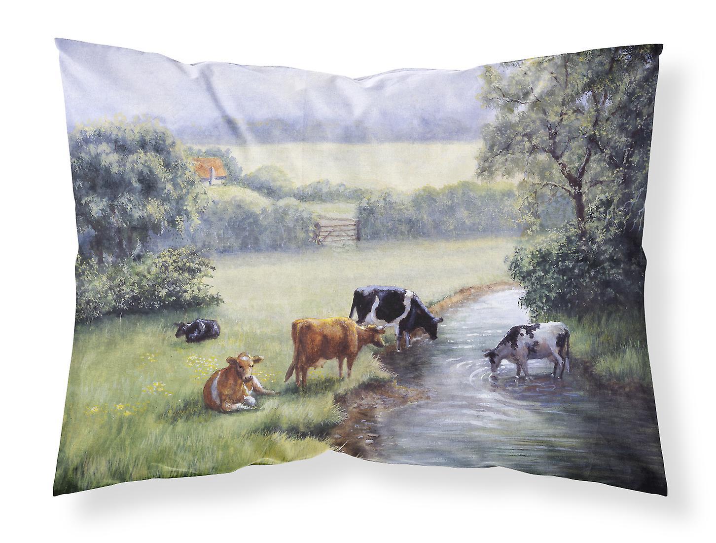 D'oreiller Tissu Ruisseau Standard Vaches À Boire La Taie Du Berges u3K1lFJTc5