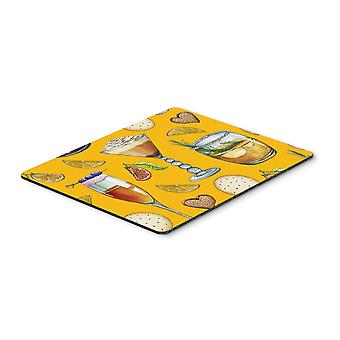 Drinks and Cocktails Gold Mouse Pad, Hot Pad or Trivet