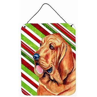 طباعة الكلب البوليسي حلوى قصب عطلة عيد الميلاد الجدار أو الباب معلقة