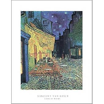 The Cafe Terrace on the Place du Forum Arles at Night c1888 Poster Poster Print by Vincent Van Gogh