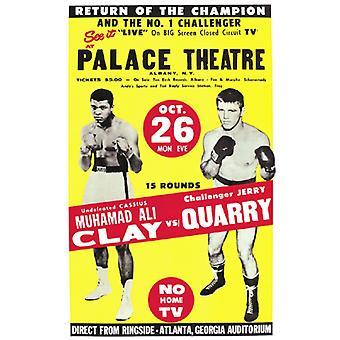 Muhammad Ali vs Jerry stenbrud 1970 plakat Print (12 x 19)