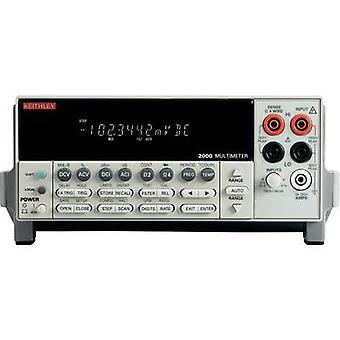 Bench multimeter digital Keithley 2000E Calibrated to: Manufacturer's standards (no certificate) Display (counts): 100