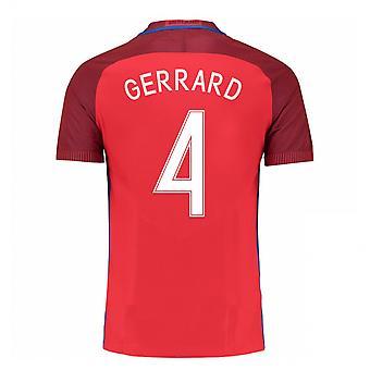 2016-17 England Away Shirt (Gerrard 4) - Kids