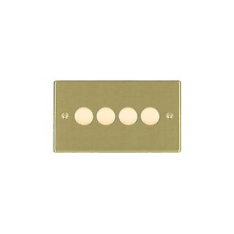 Hamilton Litestat Hartland Satin Brass 4g 400W 2 Way Dimmer SB