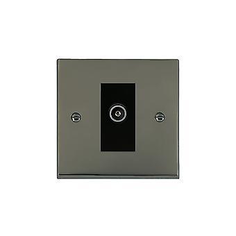Hamilton Litestat Cheriton viktorianske svart nikkel 1g No-Isolat TV (hunn) BL