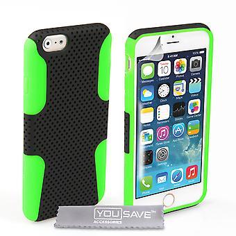 IPhone 6 i 6s siatki kombi Silikonowe etui - zielony