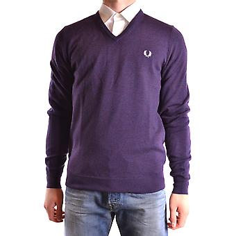Fred Perry Herren MCBI128177O Violett Wolle Sweater