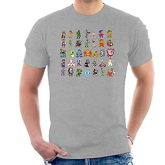 Pixellated Retro Gaming Characters Men's T-Shirt