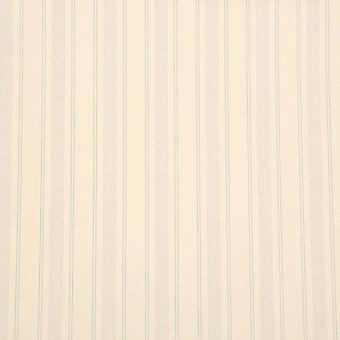 Sanderson Cream & Blue Wallpaper Roll - Flat Striped Luxury Design - DOPTSW101
