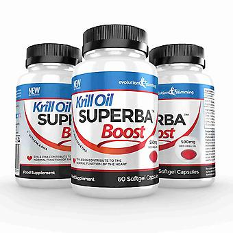 Krill Oil Superba™ Boost 590mg Krill Oil Softgels - 180 Capsules - Brain, Heart and Joint Health - Evolution Slimming