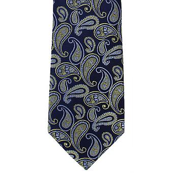Michelsons of London Tumbling Paisley Silk Tie - Yellow