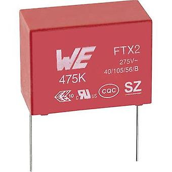 X2 suppression capacitor Radial lead 220 nF 275 Vac 10 % 22.5 mm (L x W x H) 26 x 6 x 15 mm Würth Elektronik WCAP-FTX2