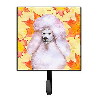 Carolines Treasures  BB9978SH4 White Standard Poodle Fall Leash or Key Holder