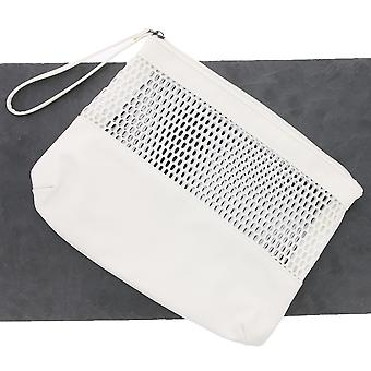 pieces bag clutch power insert faux leather ladies white