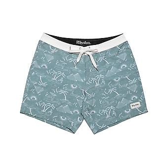 Rhythm Desert Palm Trunks Mid Length Boardshorts