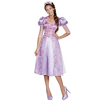 Rapunzel Tangled Disney Princess Fairy Tale Storybook Women Costume