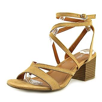 Madden Girl Womens Leexi Fabric Open Toe Casual Ankle Strap Sandals