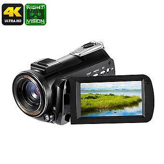 4K Digital Camera - 1/4-Inch CMOS, 30x Digital Zoom, 4K Video, 24MP Pictures, 3-Inch Display, APP, 128GB SD Card Support
