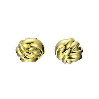 Joop vrouwen oorbellen RVS gouden greep JPER10028B000