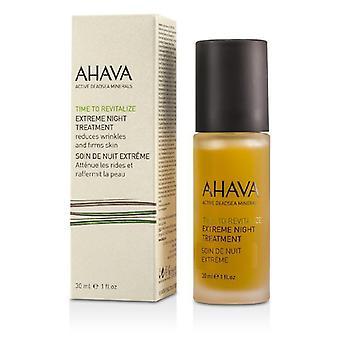 Tiempo de Ahava para revitalizar la noche extrema tratamiento - 30ml / 1oz