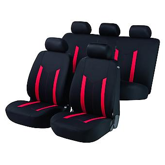 Hastings Car Seat Cover Black & Red For Audi A4 Convertible 2002-2009
