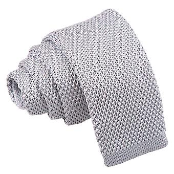 Silver Knitted Tie for Boys