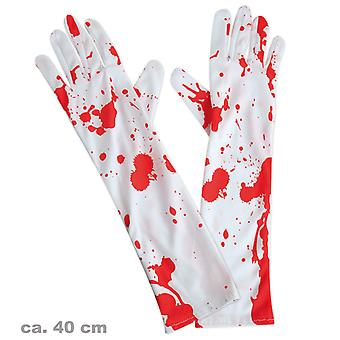 Gloves with blood stains zombie surgery surgeon Doctor accessory