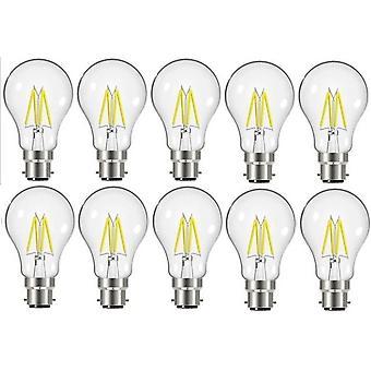 10 X Energizer 7.2W = 60W LED Filament GLS Light Bulb Lamp Vintage BC B22 Bayonet Cap [Energy Class A+]
