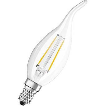 OSRAM LED E14 Candle angular 2 W = 25 W Warm white (Ø x L) 35 mm x 120 mm EEC: A++ Filament 1 pc(s)