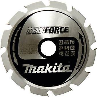 Carbide metal circular saw blade 190 x 30 x 1.4 mm Number of cogs: 12 Makita MAKFORCE B-32144 1 pc(s)