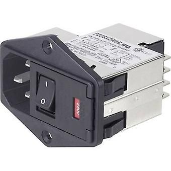 TE Connectivity PS0SXDH6A=C1171 Line filter + switch, + 2 fuses, + IEC socket 250 V AC 6 A 1 pc(s)