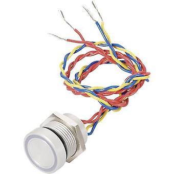 APEM PBAR1AF0000A0B Piezo pushbutton 24 V DC/AC 0.2 A 1 x Off/(On) IP69K momentary 1 pc(s)