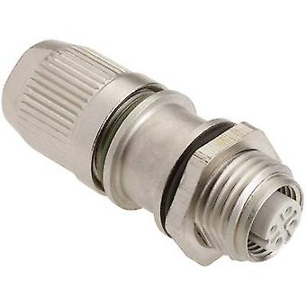 Harting 21 03 381 2425 Sensor/actuator connector M12 Socket, straight No. of pins (RJ): 4 1 pc(s)