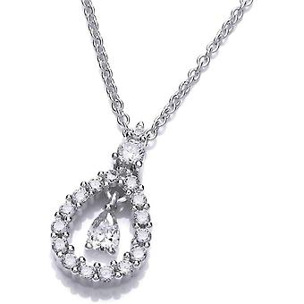 Cavendish French Lantern Drop Necklace - Silver