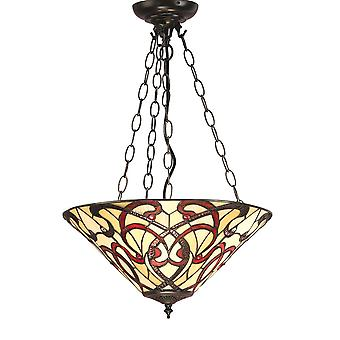 Interiors 1900 Ruban 3 Light Inverted Ceiling Pendant