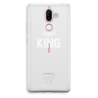 Nokia 7 Plus Transparent Case - King black