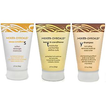 Mixed Chicks 3 Pack Travel / Trial sizes 2fl oz