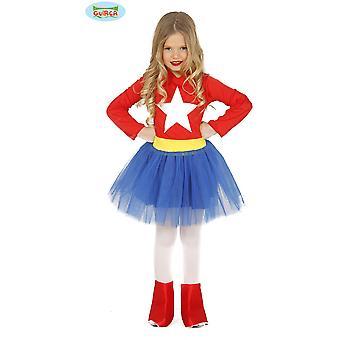 Traje de Super heroína de los niños disfraces para niñas