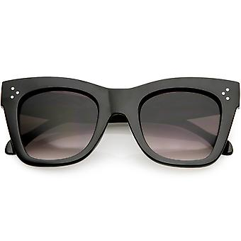 Women's Chunky Cat Eye Sunglasses Neutral Colored Square Lens 48mm