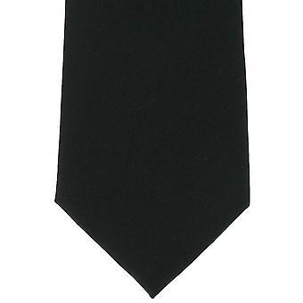 Michelsons de Londres plaine Cravate en soie - Noir