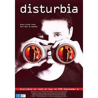 Cartel de la película Disturbia (11 x 17)