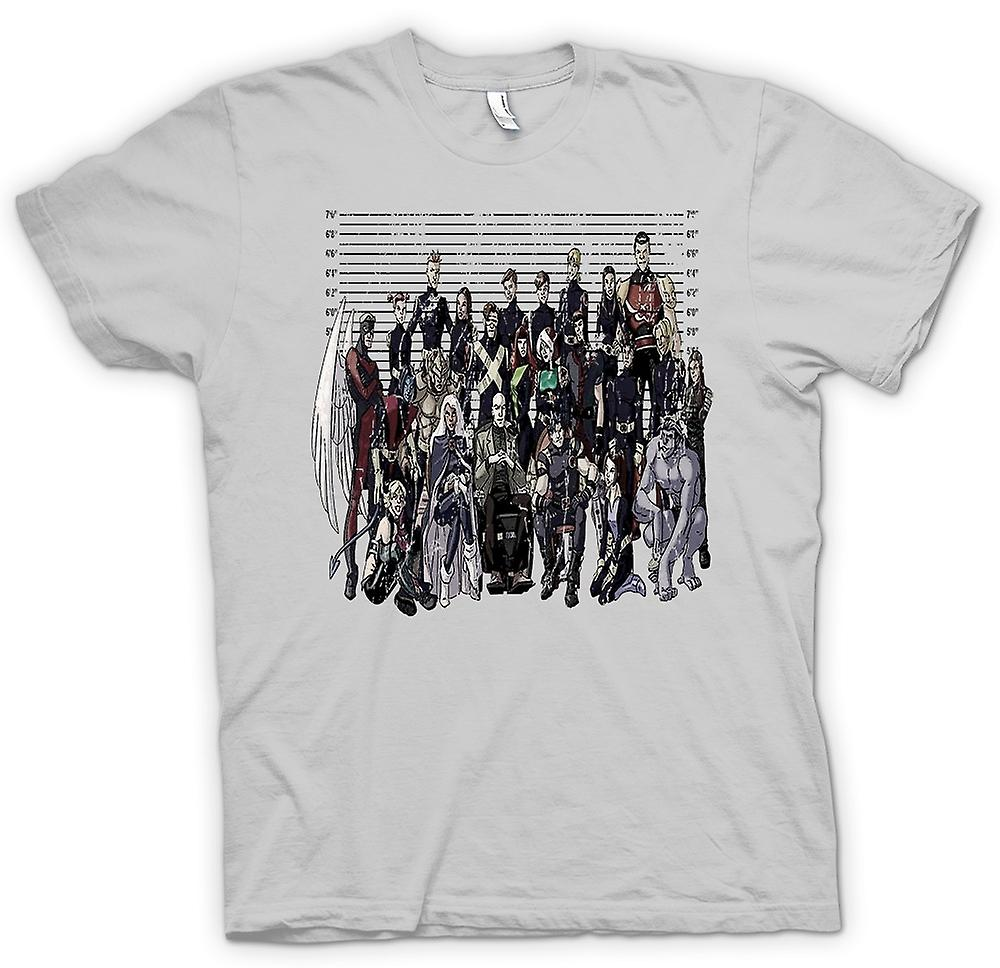 Mens T-shirt - X Men - Mug Shot - Funny