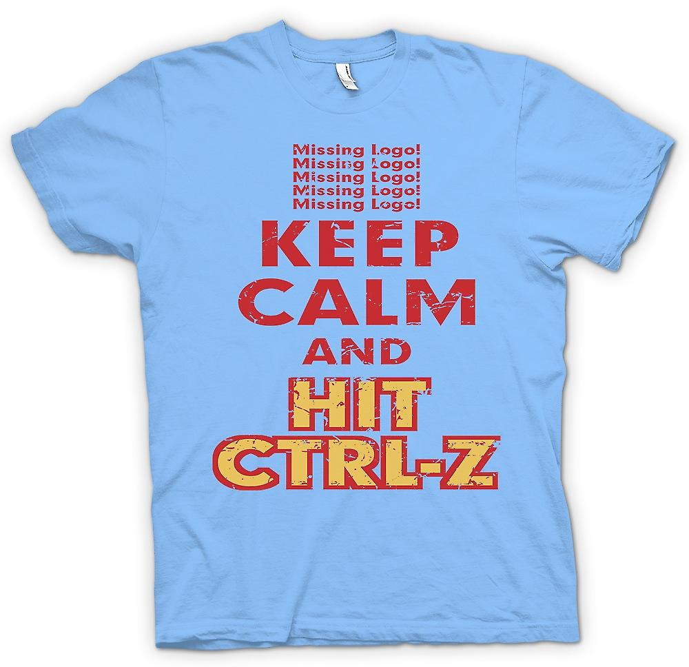 Mens T-shirt - Keep Calm And Hit Ctrl - Z