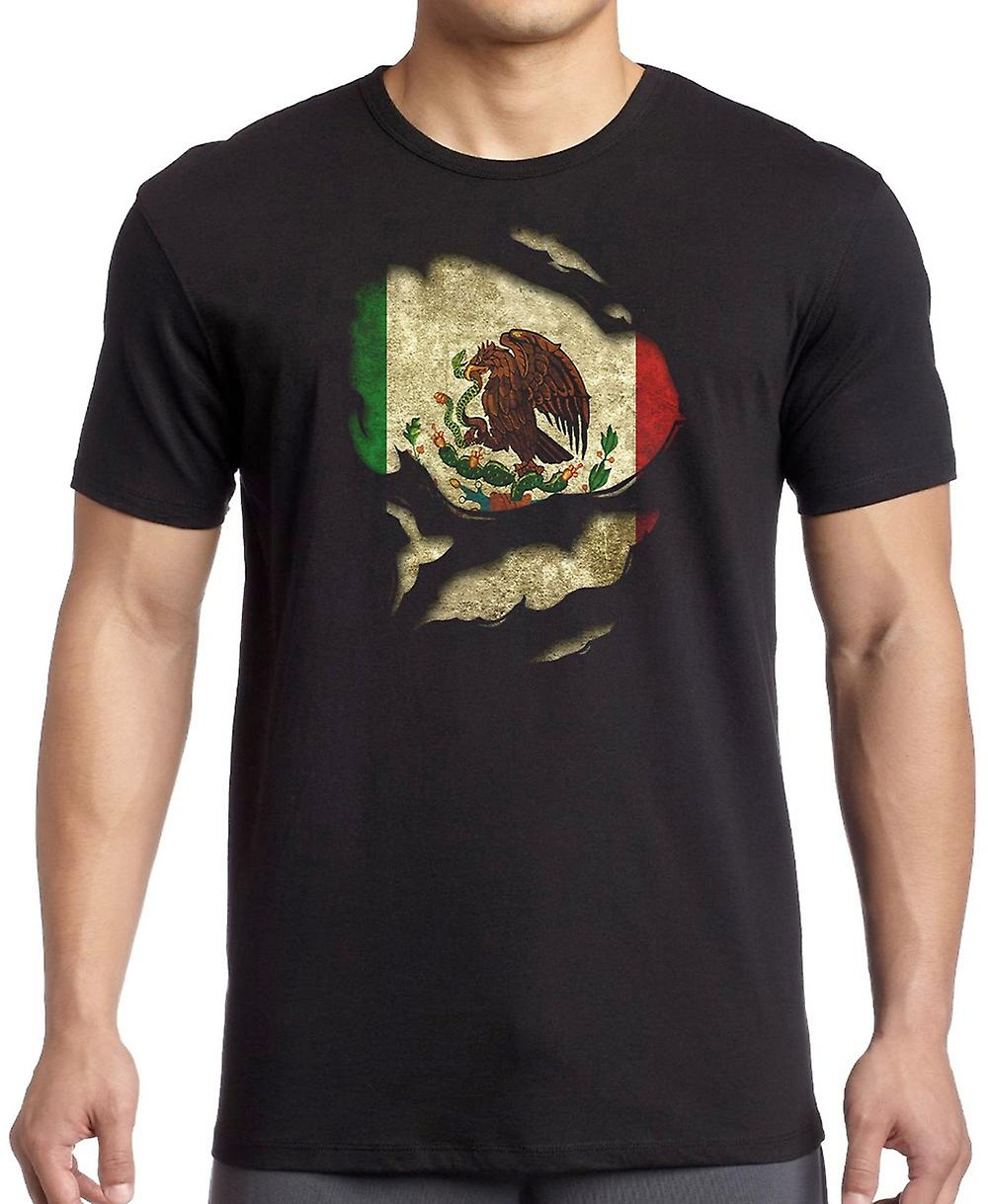 Mexico Mexican Ripped Effect Under Shirt T Shirt