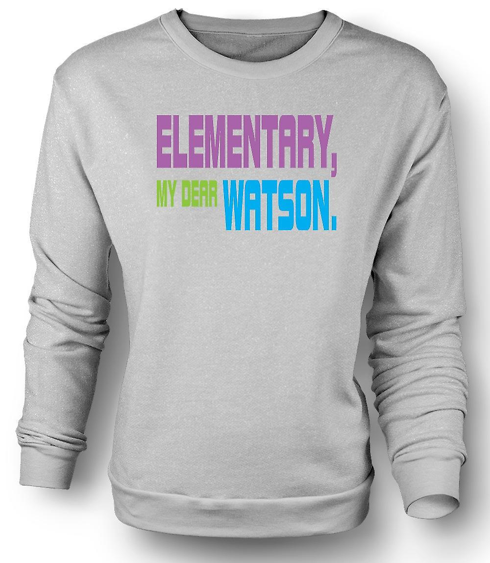 Mens Sweatshirt Sherlock Holmes elementære - Funny