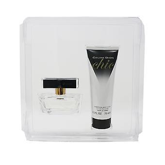 Celine Dion Chic Eau De Toilette Spray & Shimmering Body Lotion 2-Piece Gift Set